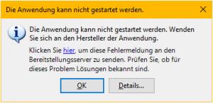 CorpusExplorer (April Update 2017) – Fehler: Die Anwendung kann nicht gestartet werden.